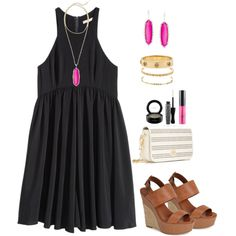 A fashion look from August 2015 featuring H&M dresses, Jessica Simpson sandals and Tory Burch shoulder bags. Browse and shop related looks.