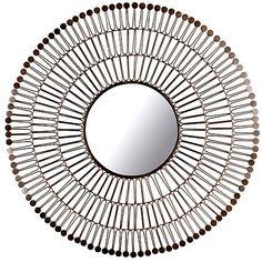 Iron Sunburst Mirror, Bronze $219.00