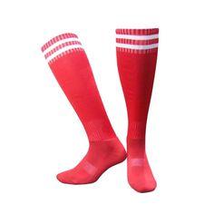c66dad4be17 Man Compression Knee Striped Socks Tube Over Knee High Sock Soft Leg  Support Stretch Breathable Long Sock Game Socks
