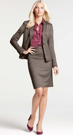 57 Trending Work & Office Outfit Ideas For Women 2019 - The Finest Feed Business Dresses, Business Outfits, Business Attire, Business Fashion, Office Fashion, Work Fashion, Fashion Design, Suits For Women, Clothes For Women