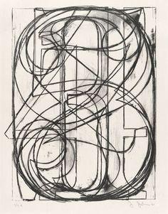 0 through 9 by Jasper Johns