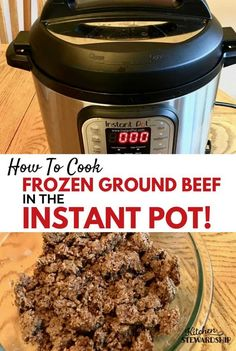 Forgot to thaw your frozen ground beef before dinner? Have no fear. Let the Instant Pot do the work of thawing and cooking delicious ground beef for you.