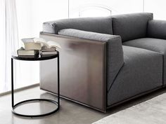 TANNED LEATHER SOFA WITH REMOVABLE COVER BACON KUOIO BY MERIDIANI | DESIGN ANDREA PARISIO