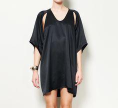 Alexander Wang Black Charmeuse Dress
