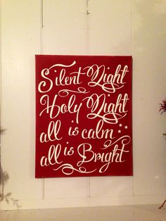 Christmas Holiday Decoration Painted Silent by TheBarnWoodSign..Want to make this for my fire place