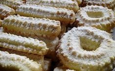 Recepti iz moje bilježnice: Keksi na mašinu Spritz Cookie Recipe, Spritz Cookies, Cookie Recipes, Czech Recipes, Croatian Recipes, Ethnic Recipes, Christmas Baking, Christmas Cookies, Mini Cakes