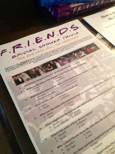The maid of honor also created her own Friends trivia game with questions based on all of the weddings in the show.