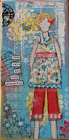 How does your garden grow?  Mixed media