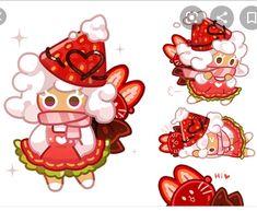 Cocoa Cookies, Cute Cookies, Kawaii Art, Kawaii Anime Girl, Little Dolly, Anime Songs, Cookie Run, Harry Potter Anime, Food Drawing