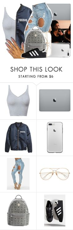 """""""so kanye got dragged 😂"""" by princessjolie ❤ liked on Polyvore featuring MCM and adidas"""