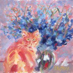 "Saatchi+Art+Artist+Pamela+Gatens;+Painting,+""Ginger+Blue+(sold)""+#art"