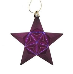 12 Shatterproof Star Ornaments by Gordon Companies, Inc. $64.50. Brand Name: Gordon Companies, Inc Mfg#: 30868666. Picture may wrongfully represent. Please read title and description thoroughly.. Shipping Weight: 2.00 lbs. This product may be prohibited inbound shipment to your destination.. Please refer to SKU# ATR25796955 when you inquire.. 12 Shatterproof Star Ornaments/Color:purple/faceted and have sparkling glitter between facets/equipped with gold ornamen...