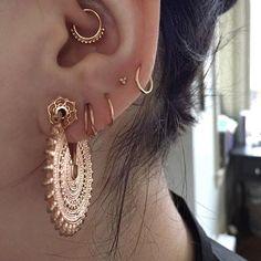 My ears are v asymmetrical and rad and fancy now, #tawapa eyelets 2kforever~ ✨ #bvla #mayajewelry