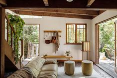 """The song that looped in my head while admiring this California project was The Mamas and the Papas' """"Twelve Thirty."""" That was inspired by LA's Laurel Canyon in the 1960s, and this redone bungalow is in Topanga, but still: Both evoke for me laid-back, retro California summer. The bungalow is the work of LA-based designer […]"""