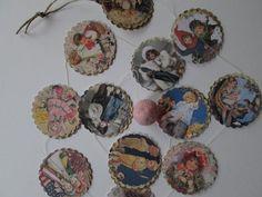 Victorian Babes  Vintage Inspired Paper Garland by futtatinni, $10.00