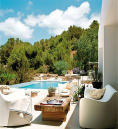 Pool House With Mediterranean Style in Ibiza, Spain   DesignRulz.com