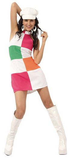 60s style.Get back in the groove with this 1960s fancy dress costume.