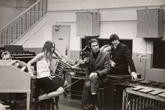 The Mamas & The Papas inside a Studio with Hammond Organ and Leslie Speaker.