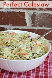 I have found that sweet relish which already includes a little vinegar and sugar makes a delicious Coleslaw. Creamy, sweet, and has a little tangy flavor.