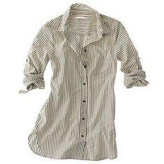 Slim Stripe Shirt - Madewell (Classic Black) - Polyvore