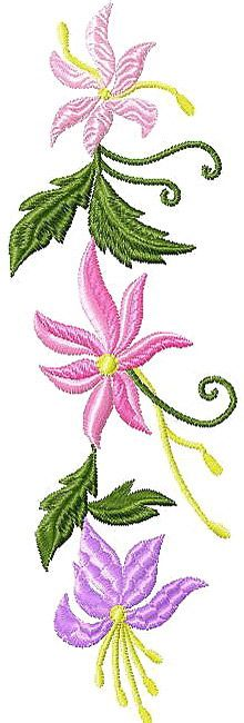 Free Retro Flowers machine embroidery design