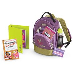 PURPLE Backpack Set School Supplies Accessories fits 18 inch ...