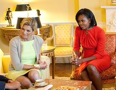 Michelle with Crown Princess Maxima of The Netherlands.