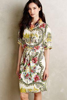 Anthropologie EU Rosaria Silk Dress