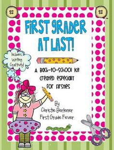 """Back-to-School for Firsties!  Includes Writing Craftivity & """"Jitter Mix"""" fun!"""