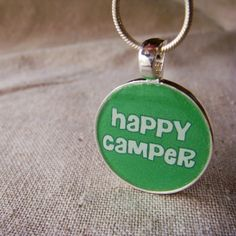 Happy Camper Necklace #camp, #camper, #summer