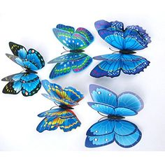 Malloom 12PCS 3D Butterfly Wall Stickers Decor DIY Art Sticker Home Wedding Decoration for Kids Rooms Living Room Blue >>> Find out more about the great product at the image link. Note:It is Affiliate Link to Amazon.