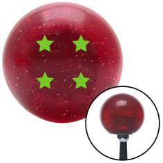 Green Dragon Ball Z 4 Star Red Metal Flake Shift Knob with M16 x 15 Insert - Give your interior the ultimate look. American Shifter's Elite(TM) series shift knobs are made from the highest quality components resulting in a superior feel on every shift. Each shift knob is designed and customized in the USA by skilled shift knob artisans who have a trained eye on every detail. American Shifters shift knobs offers an exclusive aluminum threaded insert designed to be screwed onto your shift arm…