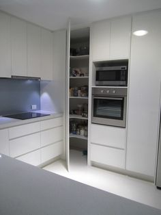 Do you want to have an IKEA kitchen design for your home? Every kitchen should have a cupboard for food storage or cooking utensils. So also with IKEA kitchen design. Here are 70 IKEA Kitchen Design Ideas in our opinion. Hopefully inspired and enjoy! Corner Pantry Cabinet, Kitchen Pantry Cabinets, Kitchen Cabinet Remodel, Modern Kitchen Cabinets, Kitchen Cabinet Design, Modern Kitchen Design, Kitchen Flooring, Interior Design Kitchen, Cabinet Storage