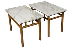 End Tables by Robsjohn-Gibbings, Pair on OneKingsLane.com - somehow I always manage to have an eye for very expensive things yet my pockets can't seem to keep up. These gorgeous end tables cost $2300.00 for the pair.