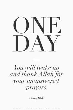 One day, insyaAllah