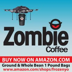 Available for purchase RIGHT NOW on AMAZON!  Pounds of Zombie coffee, go get some! Zombie Coffee, Self Serve, Coffee Branding, Coffee Shop, Amazon, Coffee Shops, Loft Cafe, Riding Habit, Coffeehouse