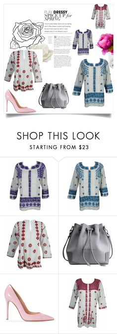 """""""Indian Ethnic Embroidered Tunic Shirt"""" by era-chandok ❤ liked on Polyvore featuring T&C Floral Company and Allstate Floral"""