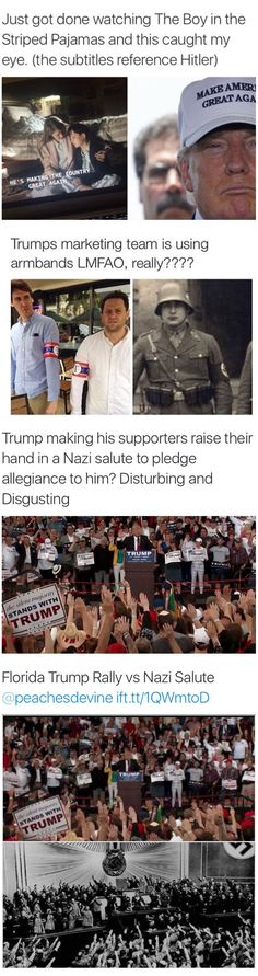 Horrifying Similarities! And the MASSES FOLLOW BLINDLY - Dump Don the Con Treasonous Trump