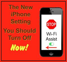 The New iPhone Setting You Should Turn Off Now!  http://www.wonderoftech.com/wi-fi-assist-iphone/