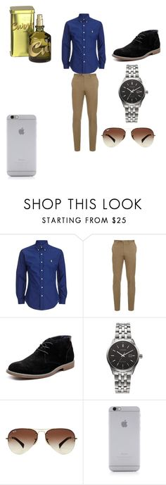 """Men Look"" by eldrianmcdonnell ❤ liked on Polyvore featuring Brioni, Hush Puppies, Citizen, Ray-Ban, Native Union, CURVE, men's fashion and menswear"