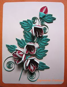Quilled 3D flowers