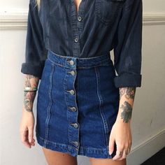 Find More Skirts Information about Drop shipping Skinny Women Short Jeans Skirt Women Vintage Topshop Moto A Type Button Denim Short Skirt High waist Skirt Jeans,High Quality jean only,China jeans hot Suppliers, Cheap jeans 36 from New More One(Drop Shipping Offered) on Aliexpress.com