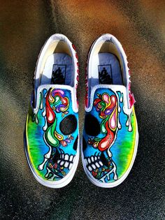 Custom Hand Painted Shoes by SDowst on Etsy, $50.00