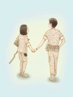 Happily ever after 😊 Cute Couple Drawings, Cute Little Drawings, Cute Couple Art, Anime Love Couple, Cute Anime Couples, Descendants Of The Sun Wallpaper, Song Joong Ki Birthday, Descendents Of The Sun, Love Wallpapers Romantic