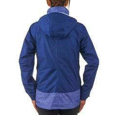 35 - Hiking Clothing - Women Forclaz 100 Mottled Blue QUECHUA - Clothing