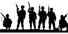 Military Troops U S ARMY Soldiers Decal Sticker Custom Vinyl Decal Stickers Outdoor Car Truck Boat Sign Business Windows Doors Walls Soldier Silhouette, Army Tattoos, Clipart Black And White, Army Soldier, Military Army, Military Signs, Silhouette Cameo Projects, Custom Vinyl, Usmc