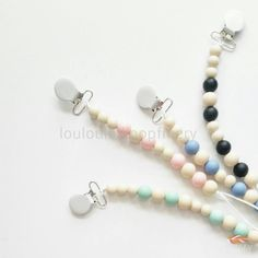 Bubble Clips - 4 colour Way Pacifier clip, teether, baby gift, sensory tool, baby shower, safely chewable by LouLouLollipopFinery on Etsy https://www.etsy.com/listing/245474396/bubble-clips-4-colour-way-pacifier-clip