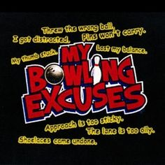 """My Bowling Excuses Towel Black by None. $10.99. Color: Black Material: Cotton Size: 11"""" x 18"""""""