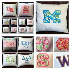 Name Your College-University-Embroidered Pillow for Your Dorm Room-Lilly Pulitzer Fabric. $84.00, via Etsy.