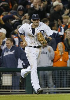 Nick Castellanos smiles after making the final out, 05/05/2014